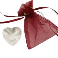 Regenbogenkristall Herz ca. 3-4 cm mit Chiffonbeutel
