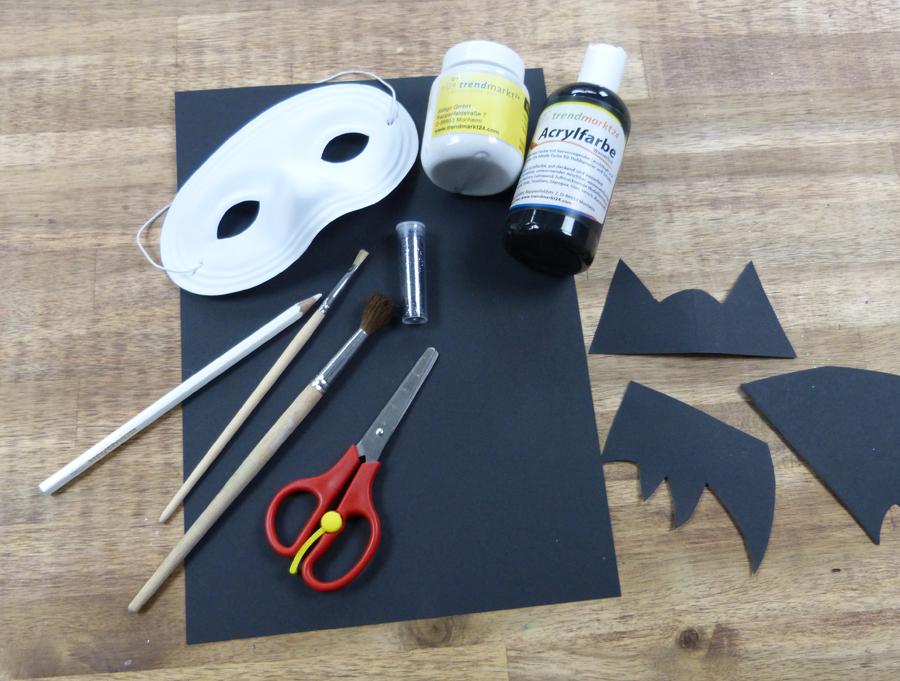 basteln fasching faschingsmaske fledermaus. Black Bedroom Furniture Sets. Home Design Ideas