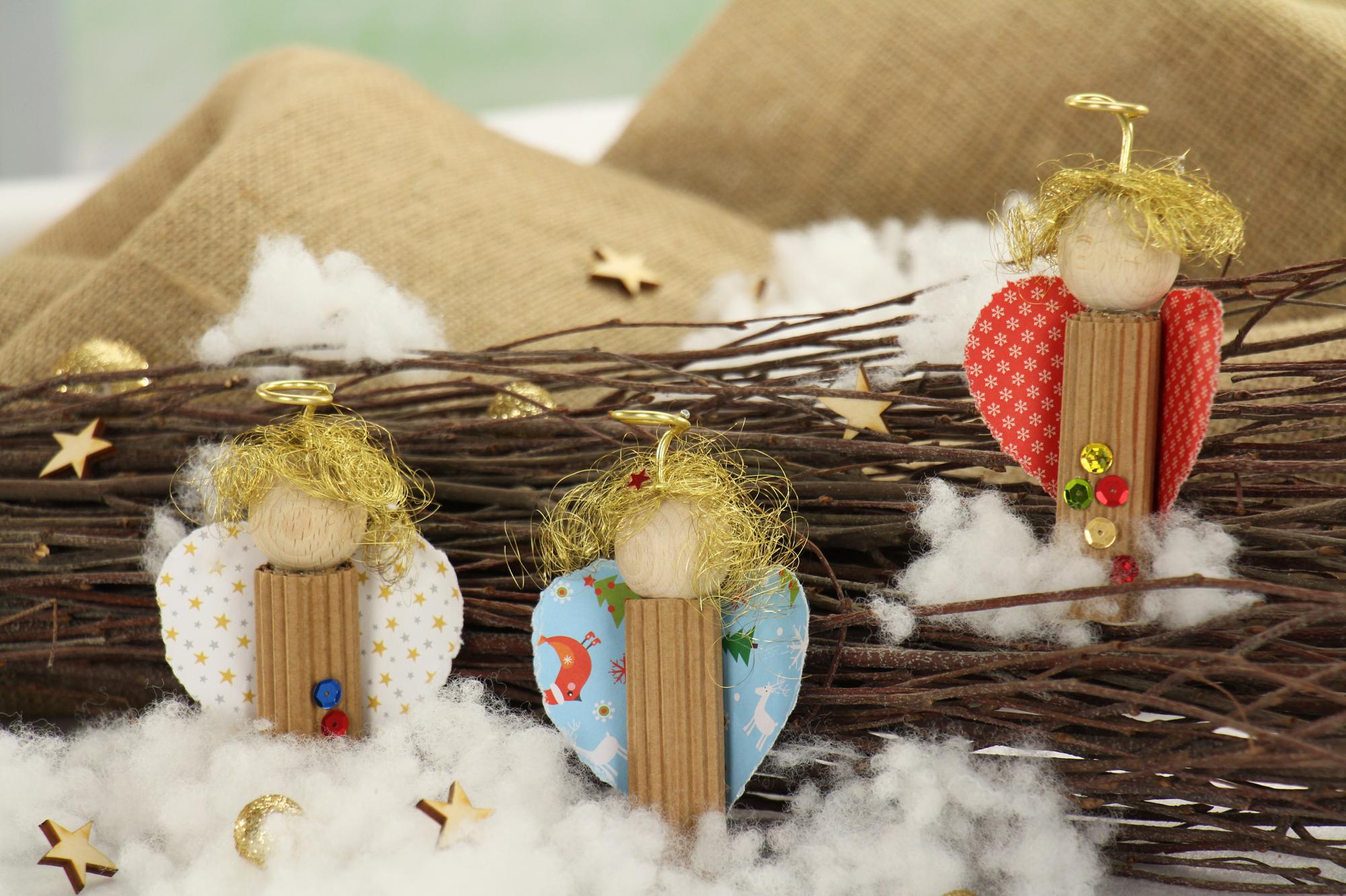 weihnachtsgeschenke basteln ideen engelchen deko. Black Bedroom Furniture Sets. Home Design Ideas