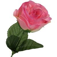 Rose rosa pink Ø 5 cm, 35 cm lang 1 Stück Seidenblume Kunstblume