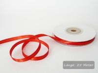 Satinband rot, Rolle 6mm breit, 25m lang