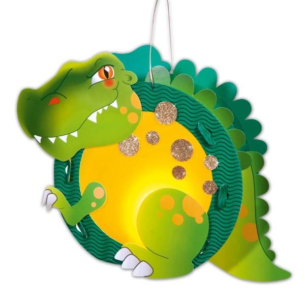 Laterne basteln Dino
