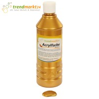 Acrylfarbe gold 500ml Flasche