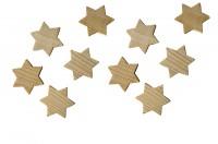 Buchenholzsterne 10 Stück, Naturholzsterne 33x33mm, Holzsterne