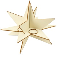 Adventskranz Steckmotiv Stern 30 x 22 cm groß