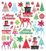 Sticker Weihnachten Bäume Renntiere