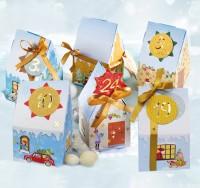Adventskalender Bastelset Weihnachtsdorf 26-teilig