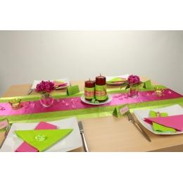 Tischdeko grün pink Alltag